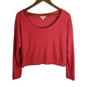 🐧Delia's Pink Slouchy Crop Oversize Knit Sweater